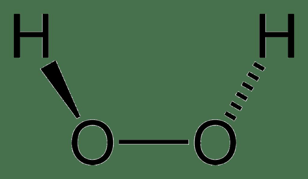 Структурная формула Перекиси водорода H2O2