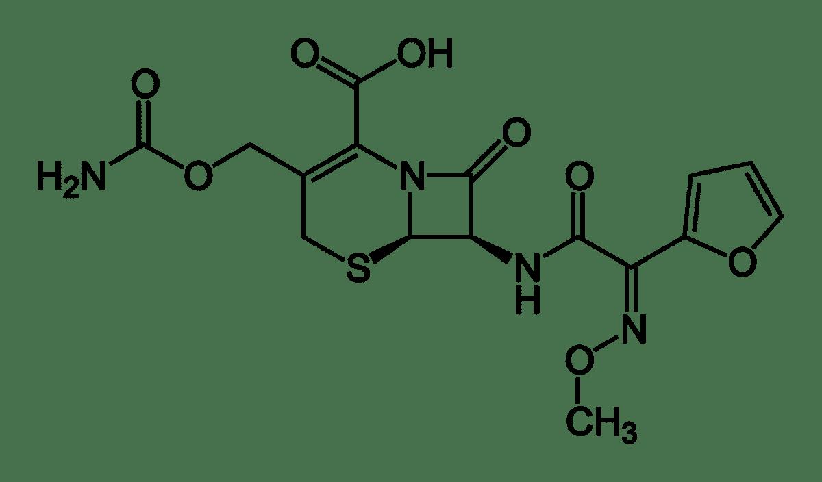 Структурная формула Цефуроксима