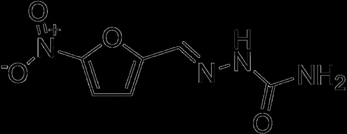 Структурная формула Нитрофурала C6H6N4O4