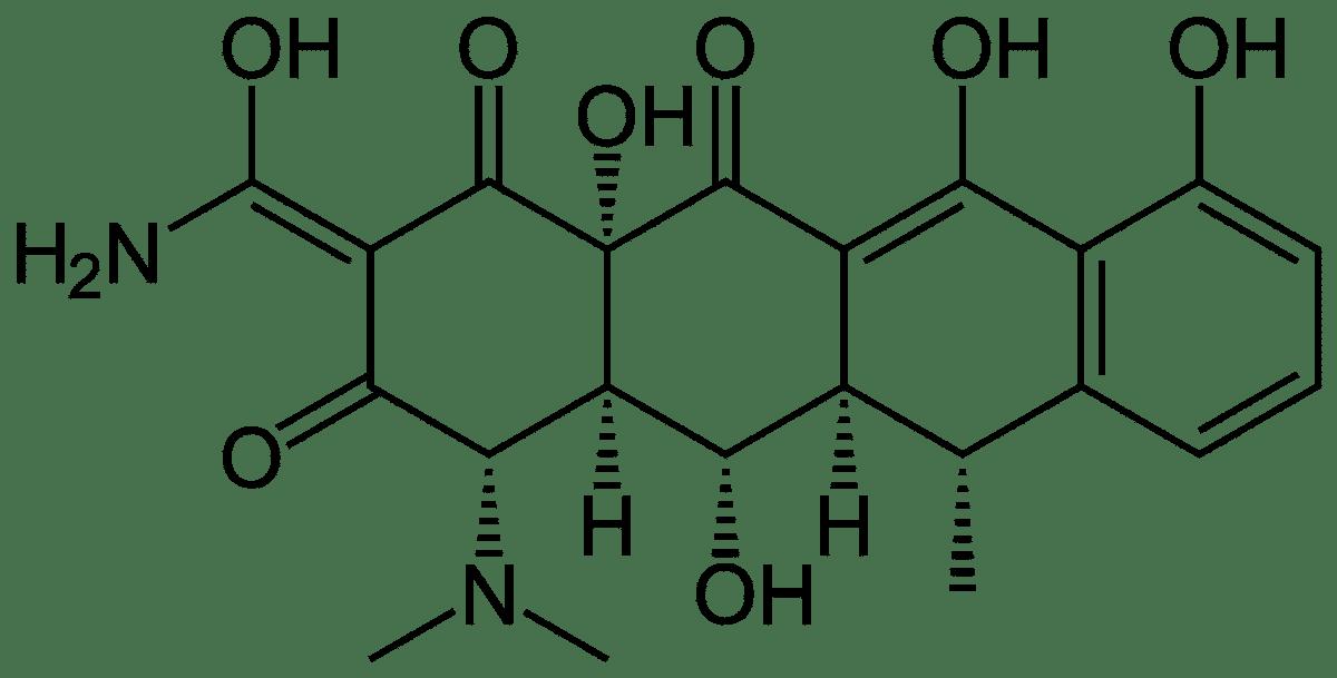 Структурная формула Доксициклина