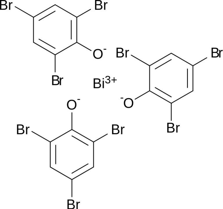 Структурная формула Ксероформа C18H6BiBr9O3