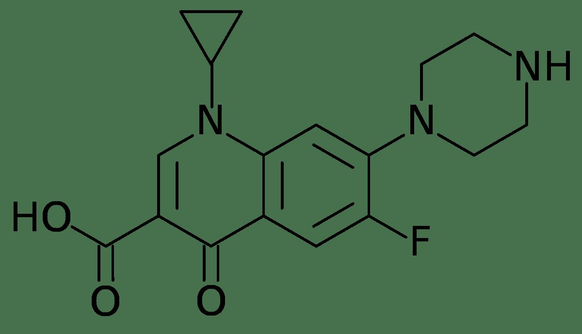 Структурная формула Ципрофлоксацина