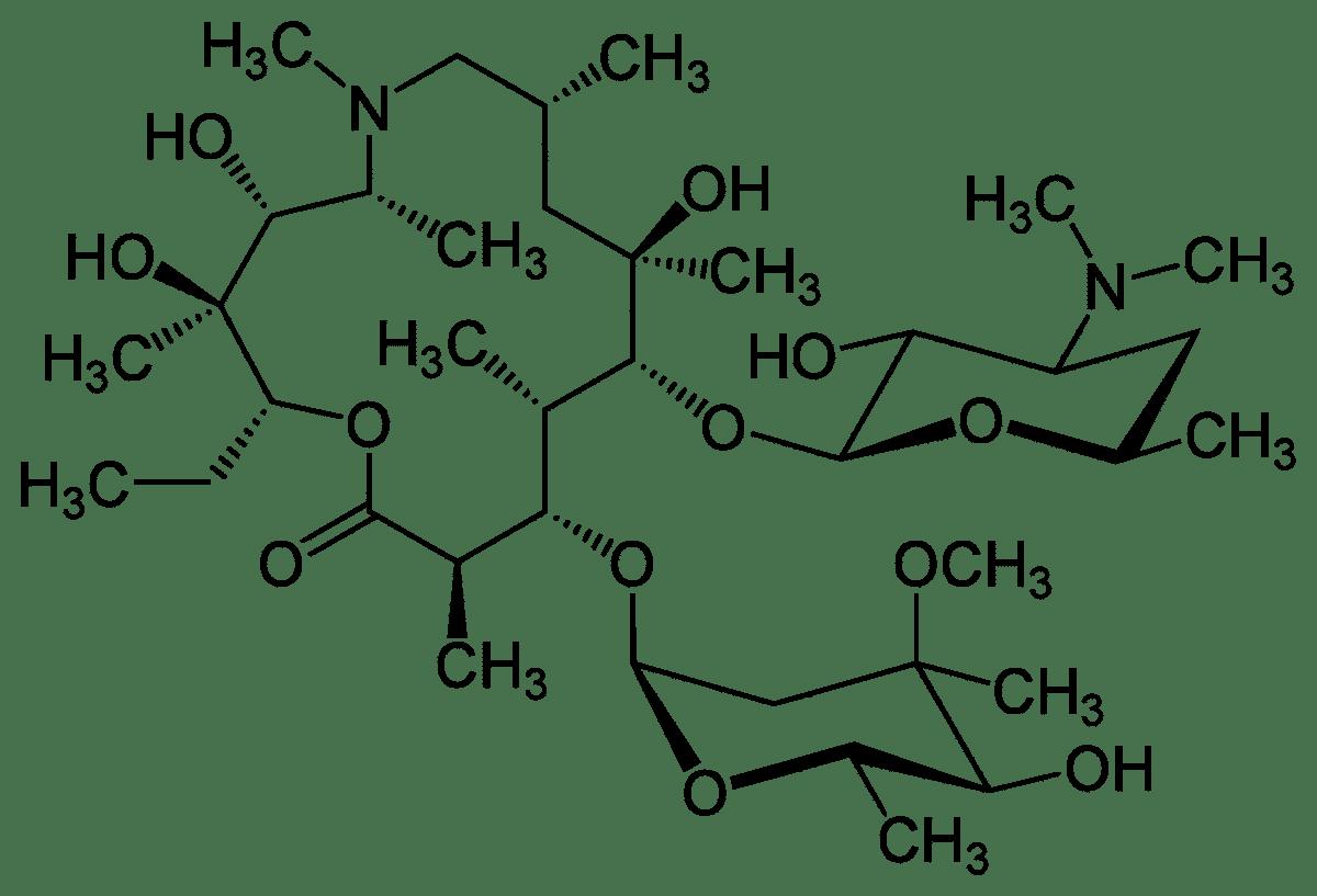 Структурная формула Азитромицина