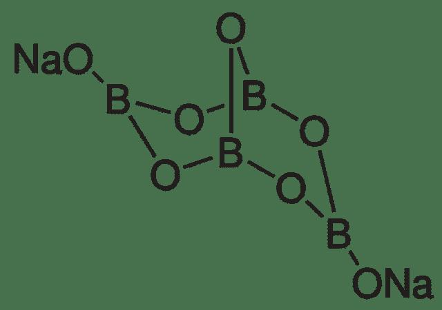 Структурная формула Натрия тетрабората Na2B4O7