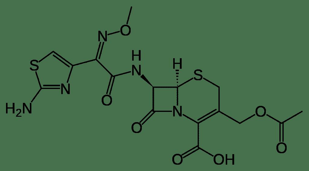 Структурная формула Цефотаксима C16H17N5O7S2