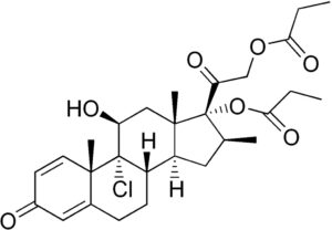 Структурная формула Беклометазона дипропионат C28H37ClO7