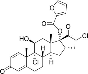 Структурная формула Мометазона (фуроат) C27H30O6Cl2