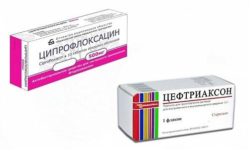 Ципрофлоксацин или Цефтриаксон
