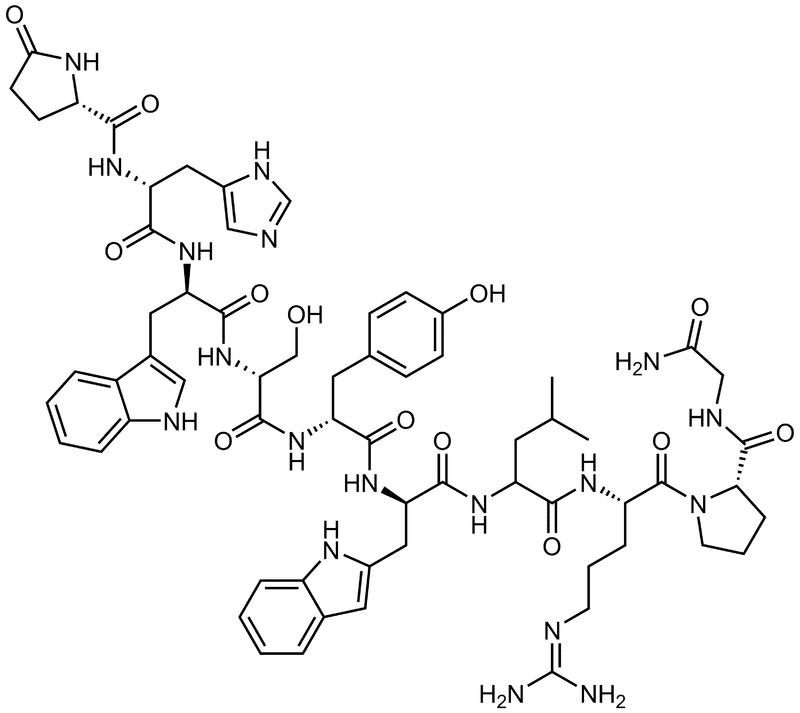 Структурная формула Трипторелина C64H82N18O13