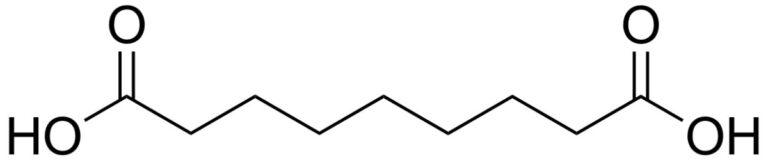Структурная формула Азелаиновой кислоты C9H16O4