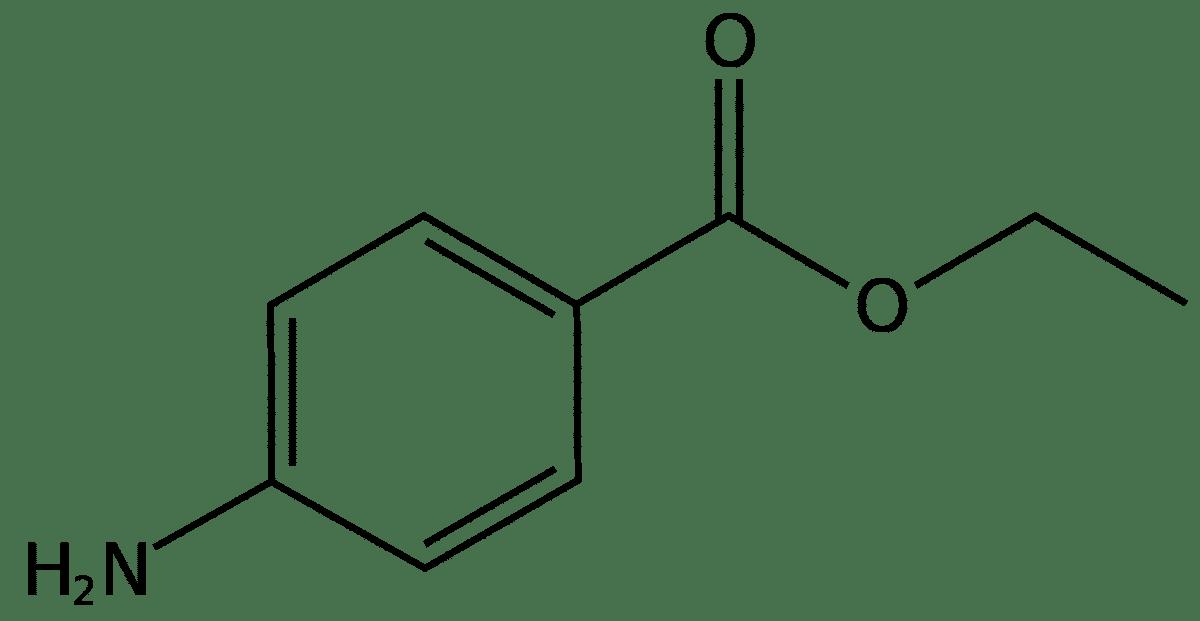Структурная формула Бензокаина