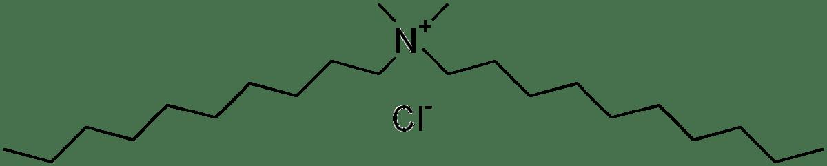 Структурная формула Дидецилдиметиламмония хлорид C22H48ClN