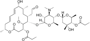 Структурная формула Мидекамицина