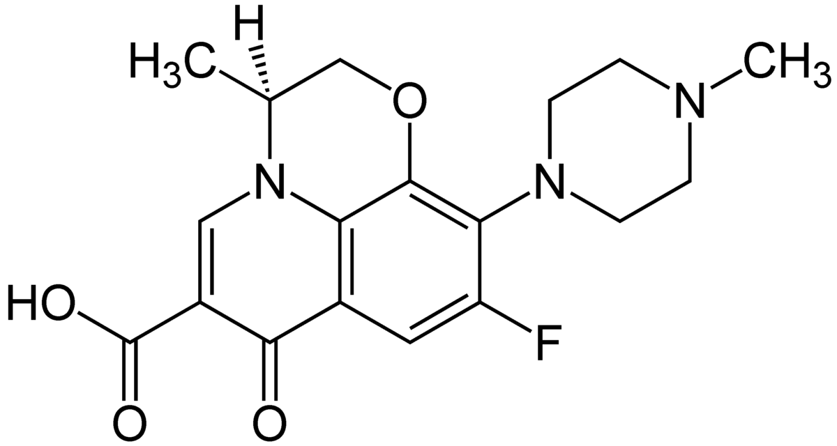Структурная формула Левофлоксацина