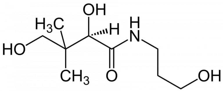 Структурная формула Декспантенола C9H19NO4