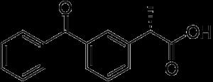 Структурная формула Декскетопрофена C16H14O3