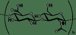 Структурная формула гиалуроновой кислоты