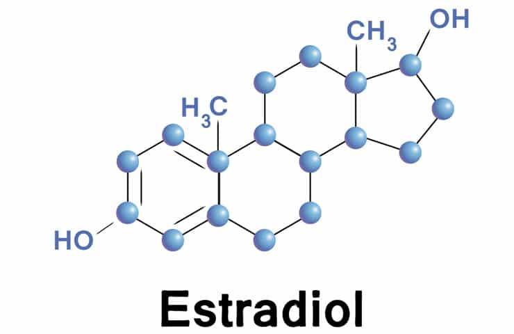 Структурная формула эстрадиола