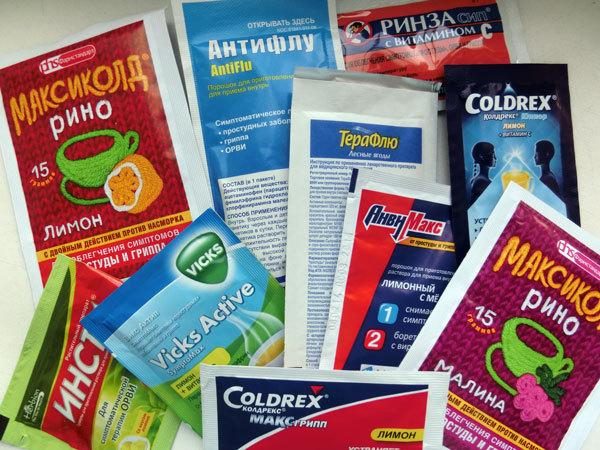 Порошки от гриппа и простуды