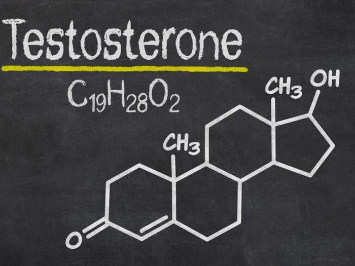 Структурная формула тестостерона