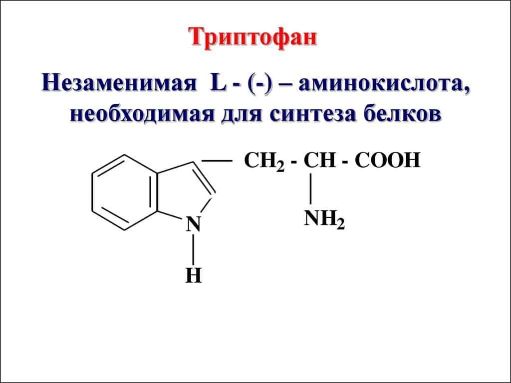 Структурная формула Триптофана