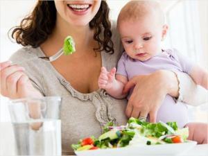 Питание матери при грудном вскармливании