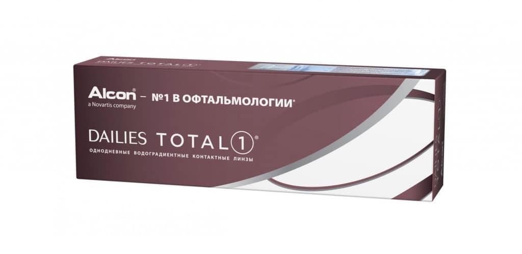 Однодневные контактные линзы Alcon Dailies Total 1