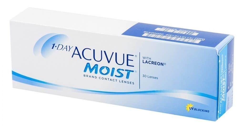Однодневные контактные линзы Acuvue 1-Day Moist