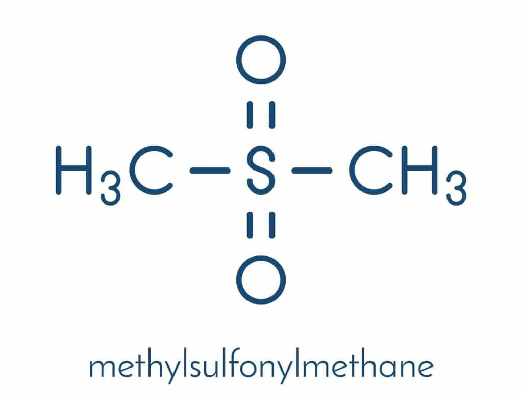 Структурная формула метилсульфонилметана