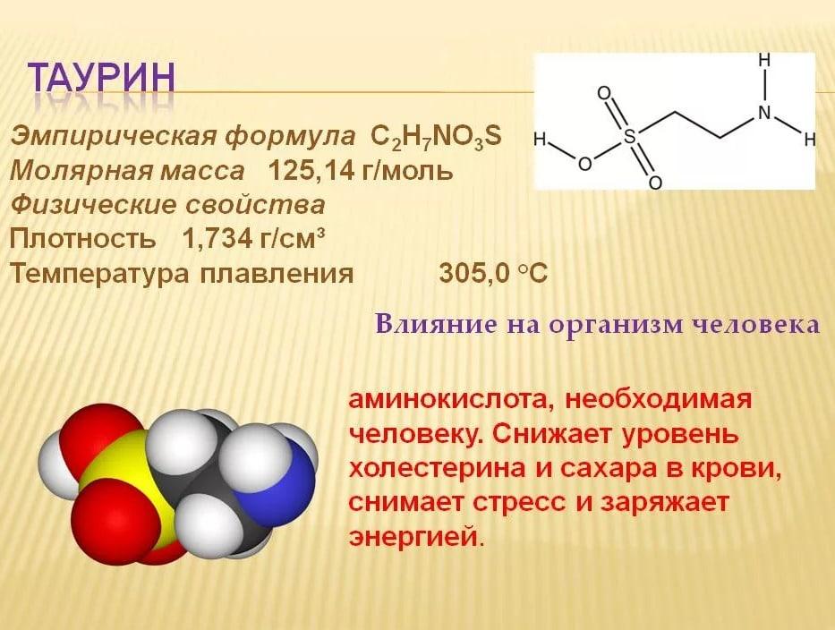 Аминокислота Таурин