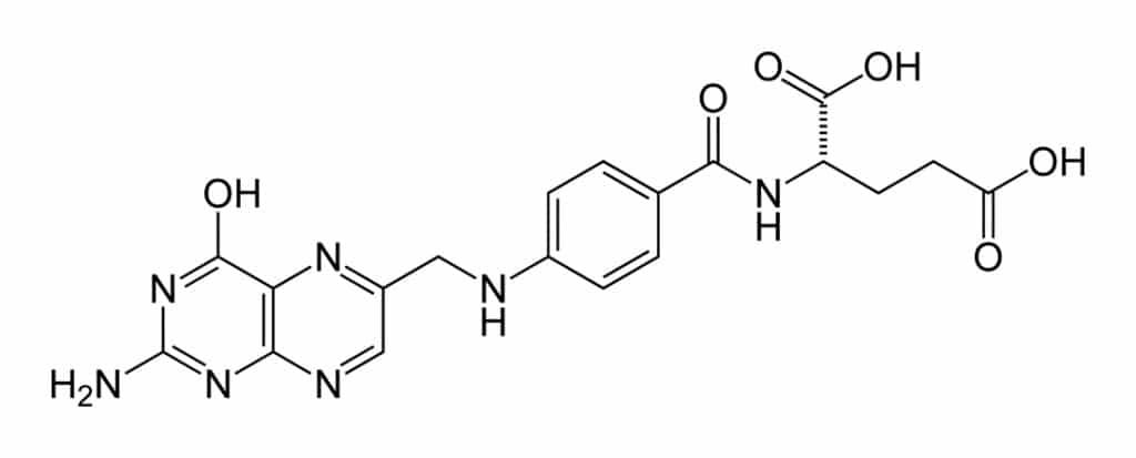 Структурная формула Фолиевой кислоты C19H19N7O6