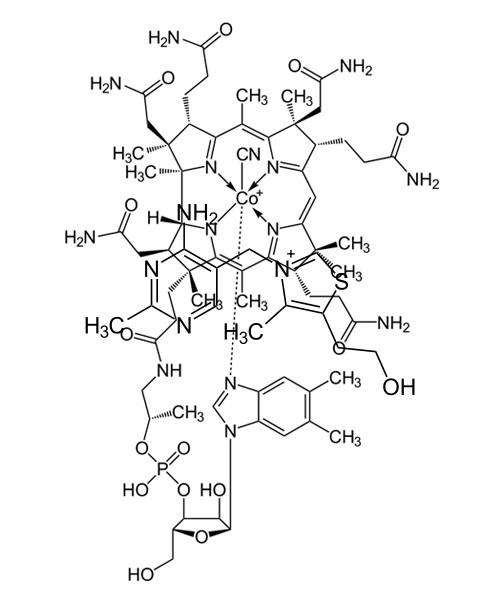 Структурная формула Цианокобаламина
