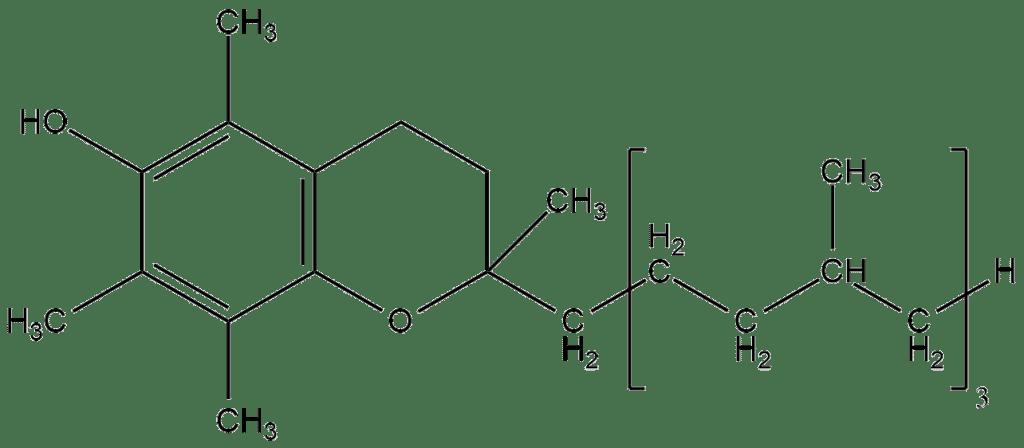 Структурная формула Витамина E