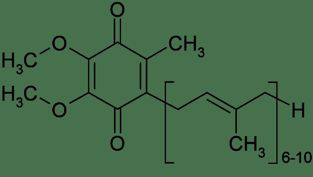 Структурная формула Коэнзим Q10