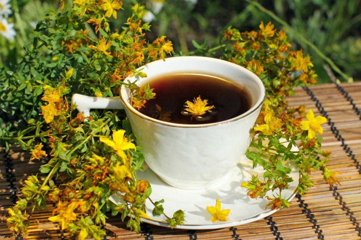 чай со зверобоем и душицей