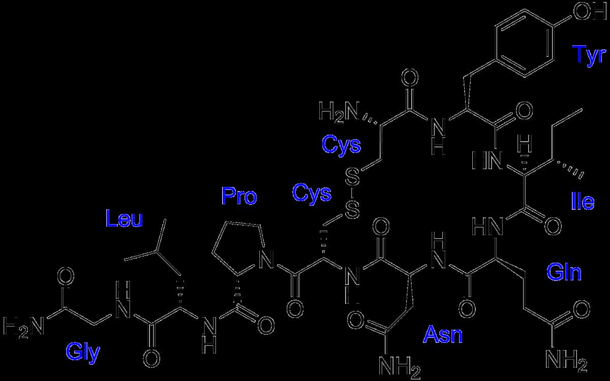 Структурная формула Окситоцина