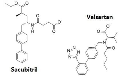 Структурная формула Валсартана и Сакубитрила