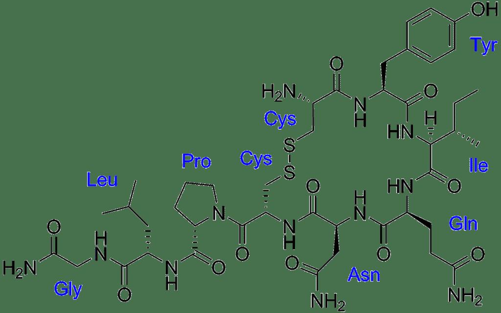 Структурная формула Окситоцина C43H66N12O12S2