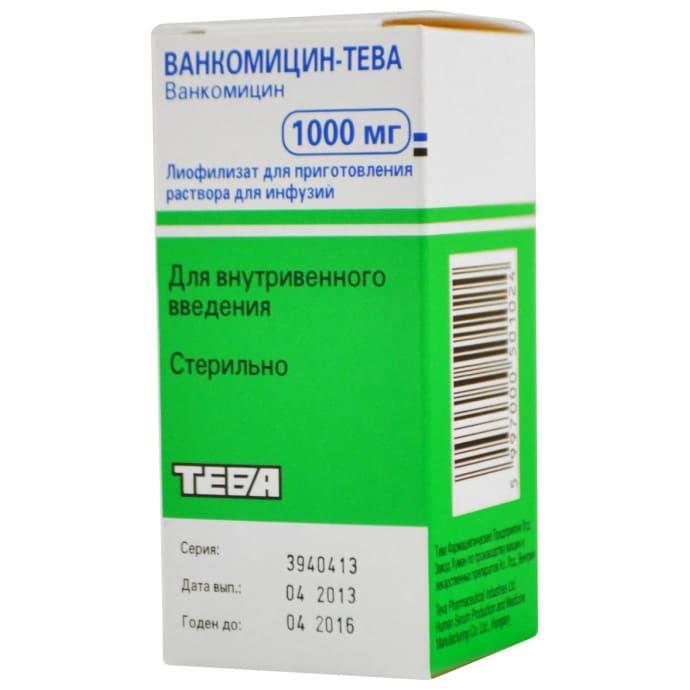 Ванкомицин-Тева 1000 мг