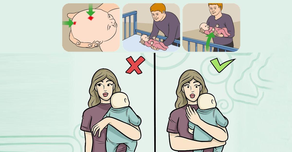 Новорожденный столбиком после кормления