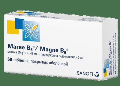 Магне В6 по 60 таблеток