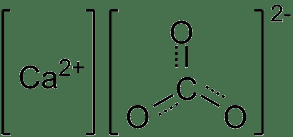 Структурная формула Карбоната кальция CaCO3