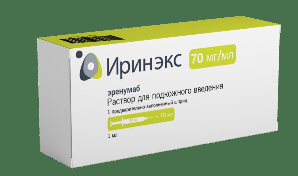 Новый препарат Иринэкс для профилактики мигрени