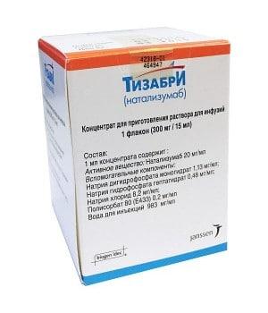 Тизабри 300 мг/15 мл