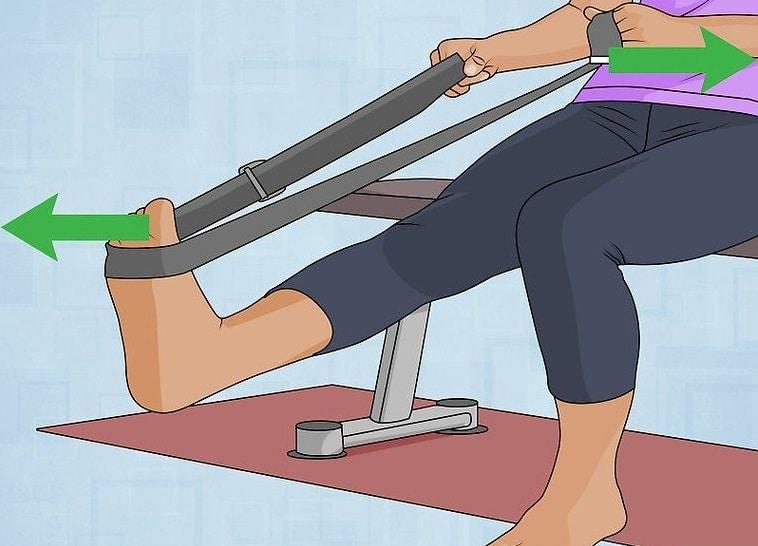 Упражнение после растяжения связок голеностопа