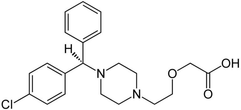Структурная формула Левоцетиризина C21H25ClN2O3