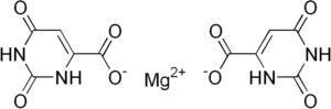 Структурная формула Магния оротата C10H6MgN4O8