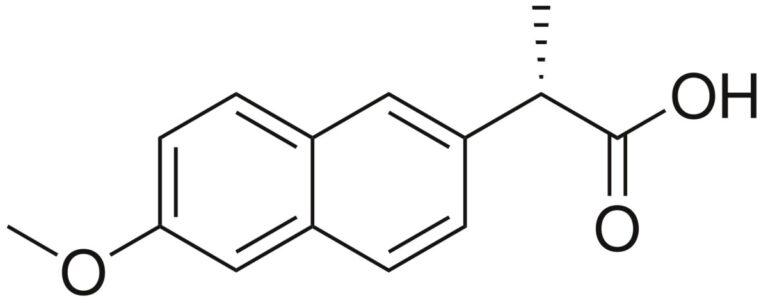 Структурная формула Напроксена C14H14O3