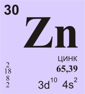 Цинк - химический элемент таблицы Менделеева