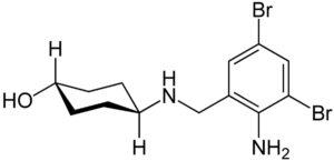 Структурная формула Амброксола C13H18Br2N2O